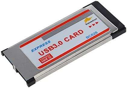 Gaoominy Adaptador Tarjeta USB 3.0 34mm a Dos 2 Puertos ...