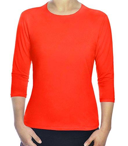 Kosher Casual Women's Modest Swim & Exercise Shirt XS Fluorescent Orange