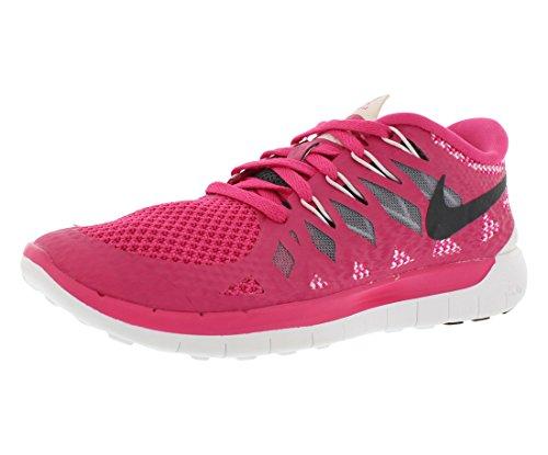 Nike Free 5 Women's Running Shoes Size US 8.5, Regular Width, Color Pink/Grey/Black For Sale