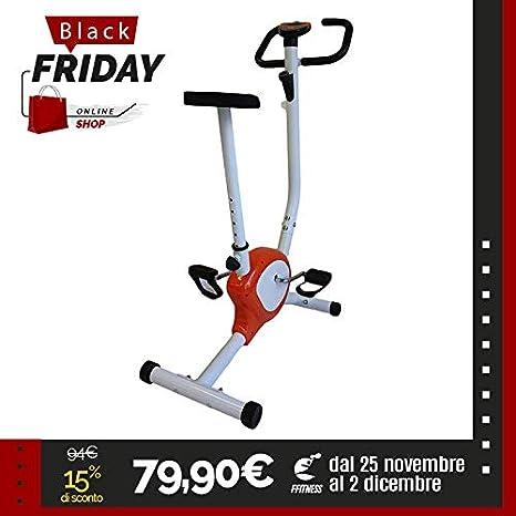 Oferta bicicleta estática 201 Bigger XL Naranja Belt Cardio ...