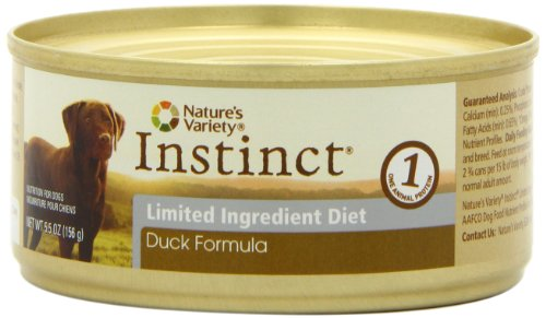 Nature's Variety Instinct Limited Ingredient Diet Duck Canned Dog Food, 5.5 Ounce (Pack of 12), My Pet Supplies