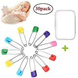 Baby Safety Pins Plastic Head Nappy Pins Diaper Hold Clip Safety Locking Infant Kid Cloth (30pcs)