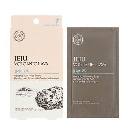 The Face Shop Jeju Volcanic Lava Volcanic Ash(7 strips) + Aloe(7 strips) Nose Strips Package Sets by The Face Shop