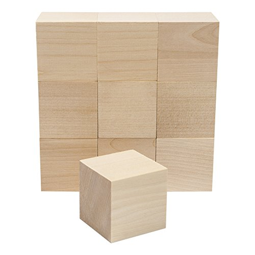 Wooden Cubes - 2 Inch - Wood Square Blocks For Photo Blocks, Crafts & DIY Projects (2'') - by Craftparts Direct - Bag of 100 by Craftparts Direct (Image #4)