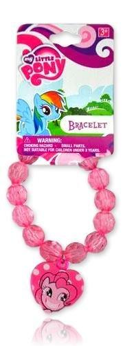 My Little Pony Beaded Bracelet With Charm (Pinkie Pie) -