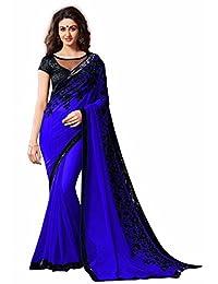 Mahavir Fashion Indian Women's Designer Georgette Saree