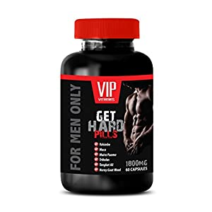 Increase sexual desire for men - GET HARD PILLS - FOR MEN ONLY - Yohimbine and horny goat weed - 1 Bottle 60 Capsules