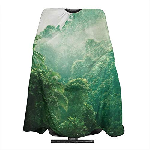 Bali Rainforest Nature Landscape Haircut Hairdressing Cape Cloth Apron Hair Styling Hairdresser Cape Barber Salon