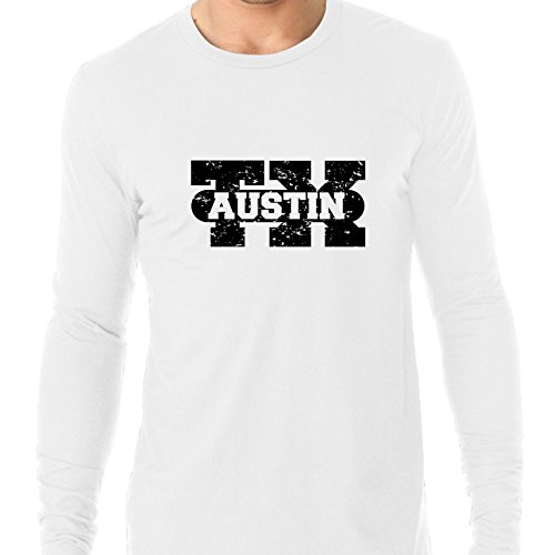 Hollywood Thread Austin, Texas TX Classic City State Sign Men's Long Sleeve T-Shirt]()