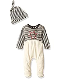 Baby Organic Footed Coverall and Hat Set