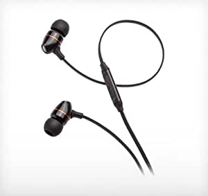 NuForce NE-650M-BK High Efficient Earphones with Excellent Bass and Layered Sound Stage with Microphone (Black)