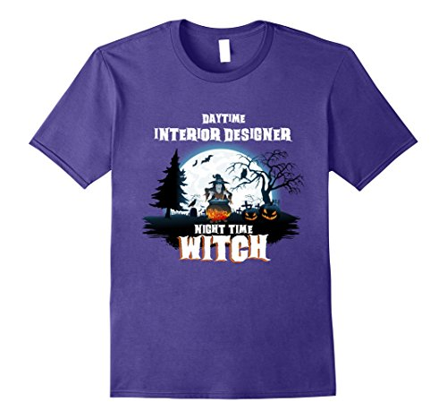 Mens Interior Designer Witch By Night Halloween Costume T-Shirt 3XL (Interior Design Halloween Costume)