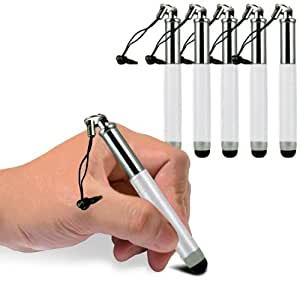 Sony Xperia Z1S Mini Retractable Adjustable Capacitive Stylus Touch Pen (5 Pack) By Spyrox (White) By Spyrox