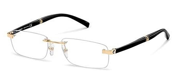 543048c8305 Image Unavailable. Image not available for. Colour  MONT BLANC MB-9101 V  Eyeglasses 9101V Black Gold E69 Frames