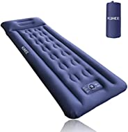 KUHEE Sleeping Pad for Camping Thickness 5.6 Inch Camping Mat with Built-in Pump Compact Lightweight and Water