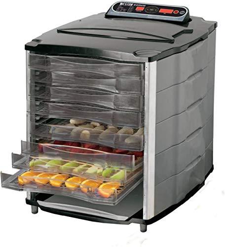 Weston 28-1001-W 10 Tray Digital Dehydrator, Silver