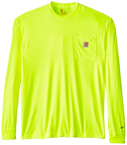 Carhartt Men's Big & Tall High Visibility Force Color Enhanced Long Sleeve Tee,Brite Lime,XX-Large Tall