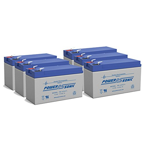 PS-1270 12V 7AH RBC2 REPLACEMENT UPS BATTERY - 6 Pack by Powersonic