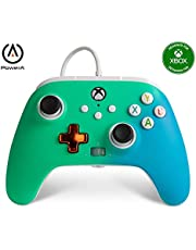$34 » PowerA Enhanced Wired Controller for Xbox - Seafoam Fade, Gamepad, Wired Video Game Controller, Gaming Controller, Xbox Series X|S, Xbox One - Xbox Series X