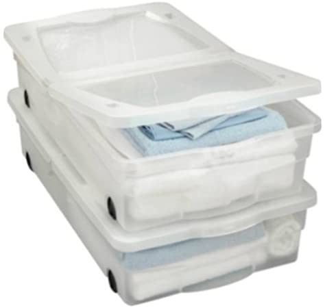 Juego de 2 cajas de almacenamiento para debajo de la cama con ...