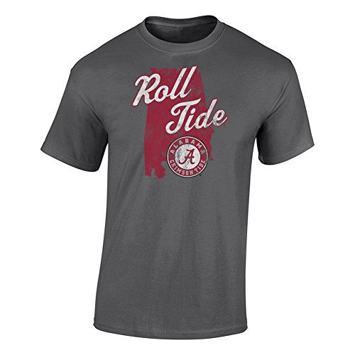 Elite Fan Shop Alabama Crimson Tide Tshirt Charcoal - -