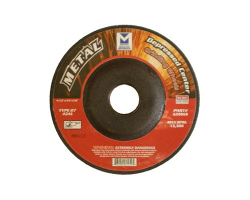 Mercer Abrasives 620100-25 Type 27 Depressed Center Grinding Wheels 5-Inch by 1/4-Inch by 7/8-Inch, 25-Pack