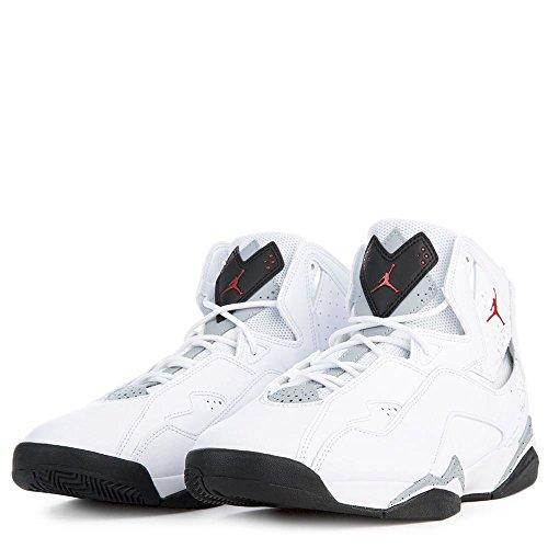 Nike Jordan Men's Jordan True Flight White/Gym/Red/Black/Wolf/Grey Basketball Shoe 8.5 Men US