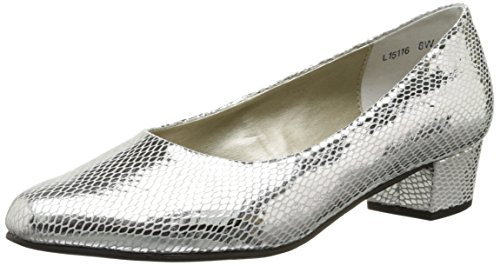 (Rose Petals Women's Emma, Silver Snake Print Leather, 12 W US)