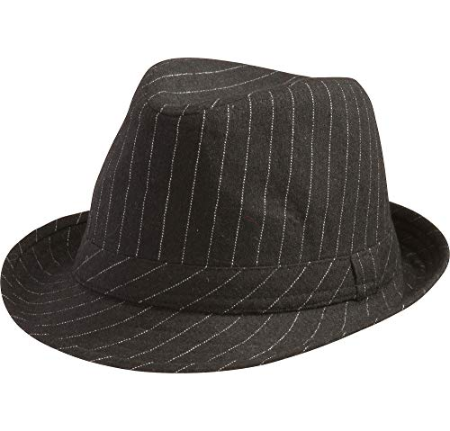 AMSCAN Pinstripe Fedora Hat Halloween Costume Accessories, One Size for $<!--$11.97-->