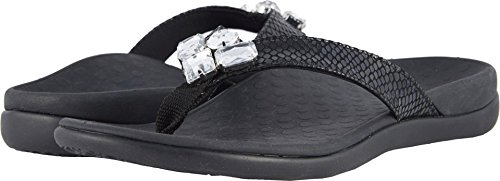 Black Tide Jewel Snake Sandal Thong Womens Vionic X0OzwqSO