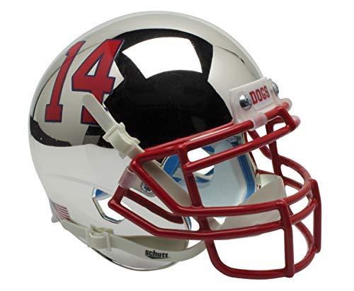 Schutt NCAA Fresno State Bulldogs Mini Authentic XP Football Helmet, Chrome Alt. 4