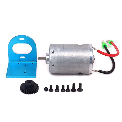 Mount Set Motor Brushless - HobbyCrawler 540 Brushed Motor Adjustable Mount W/Fan 27T Gear Upgrade Parts for 1/18 Wltoys A959 A969 A979 K929 RC Car A580048 (Blue)