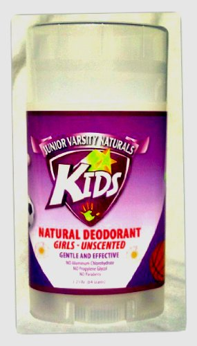 Price comparison product image Kids Natural Deodorant for Girls - Unscented, 2.25 oz. - by Junior Varsity Naturals
