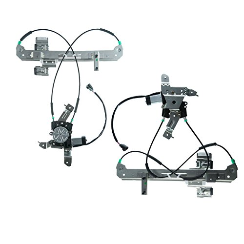 A-Premium Power Window Regulator with Motor for Chevrolet Tahoe GMC Yukon 2000-2006 Cadillac Escalade Rear Left and Right 2-PC ()