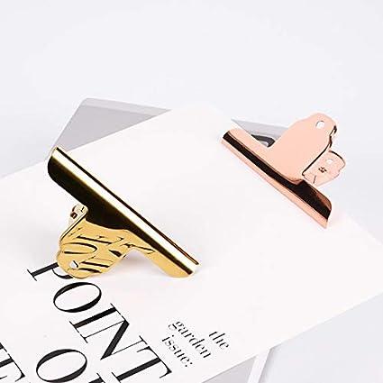 metal cartella clip di cerniera in acciaio inox Binder Molla fermacarte Color : B, Size : 6pcs Fermacarte Grande clip di morsetto Bulldog