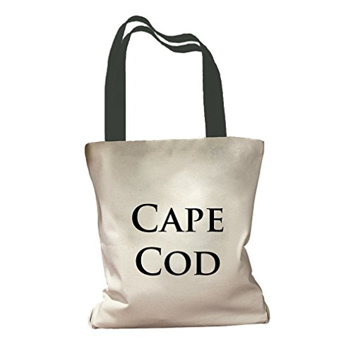Cape Cod Canvas Colored Handles Tote Bag - - Shopping Cape Centers Cod