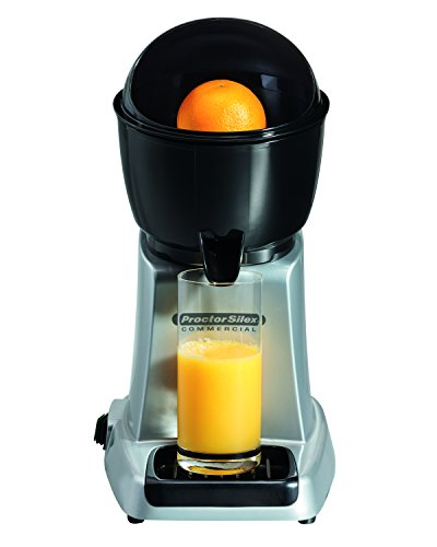 Proctor Silex Commercial 66900 Electric Citrus Juicer, 3 Reamer Sizes for Oranges, Lemons, Limes and Grapefruits, Removable Bowl, Strainer, Splashguard, Drip Tray, Black/Grey by Hamilton Beach (Image #2)