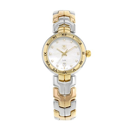 Tag Heuer Women's WAT1453.BB0955 Link Two Tone Silver and Gold/White MOP Stainless Steel Watch