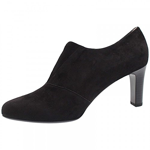 Peter On High Hanara Fronted Slip Court Shoe Black Suede Kaiser rtaPxqr