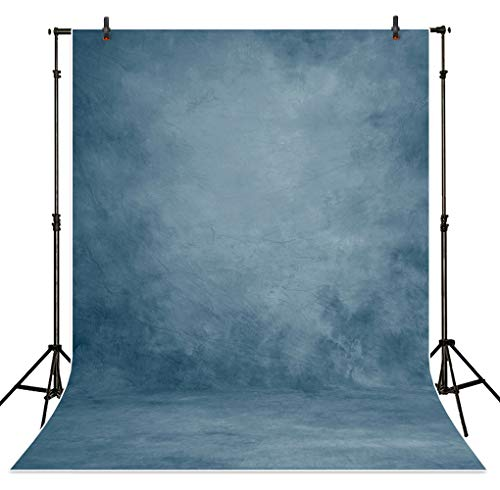 Allenjoy 5X7ft Printed Blue Texture Abstract Backdrop for Portrait Photography Old Master Vintage Shooting Background Photo Studio Head Shots Props Baby Shower Newborn