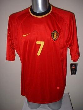 Nike Bélgica wilmots Camiseta de la selección de fútbol de XL Vintage Schalke Top Belgio Belgique