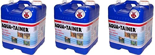 Reliance Products Aqua-Tainer 7 Gallon Rigid Water Container (Pack of 3)