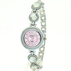 Timermall Green Analoguoe Quartz Crystal Bracelet Watches