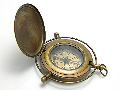 Black Friday Gifts Brass Compass/Directional Magnetic Compass for Navigation/Push Button Pocket Compass for Camping, Hiking, (Directional Compass)
