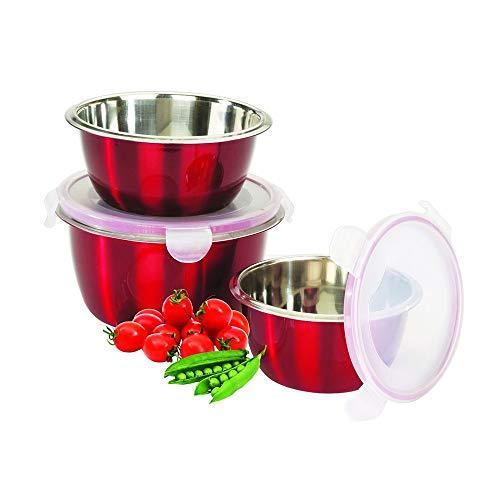 Conjunto Potes Herméticos Ecolumi Vermelho