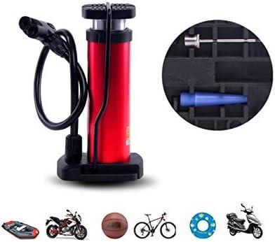 Rouge kxrzu Compatible Portable Alliage V/élo Piste Pompe Cycle Cycle Piste Gonfleur De Pneu Valve Tube V/élo Pompe