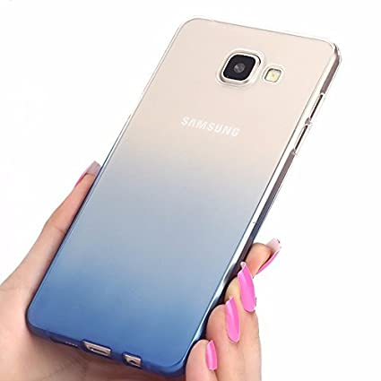 online store 12329 39e51 Loxxo® Back Cover for Samsung Galaxy A7 2016 Soft Silicone Gradient Case  Cover for Galaxy A7 2016 & Case Cover for Galaxy A710 (Blue) (Gradient Blue)