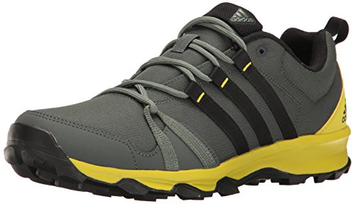 adidas Outdoor Men's Tracerocker Trail Running Shoe, Utility Ivy/Black/Unity Lime, 9.5 M US