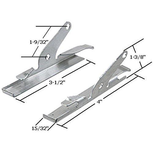 (CRL WCM100 Jalousie Glass Clip fit on 4; Glass Panels)