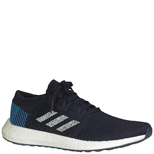 5ba878600 adidas Men s Pureboost Go Running Shoes Core Black White Shock Cyan 8.5  D(M) US